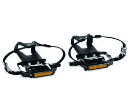 Newsty Bike Pedals with Clips and Straps